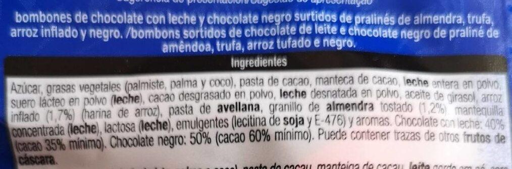 Surtido de bombones - Ingredients