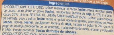 Chocolate con leche relleno Sabor naranja - Ingredients - es