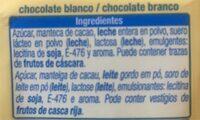 chocolate blanco - Ingrédients - fr