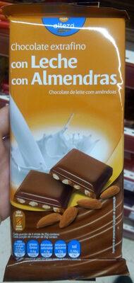 Chocolate extrafino con leche con almendras - Producto