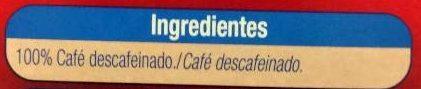Café soluble descafeinado - Ingrediënten - es