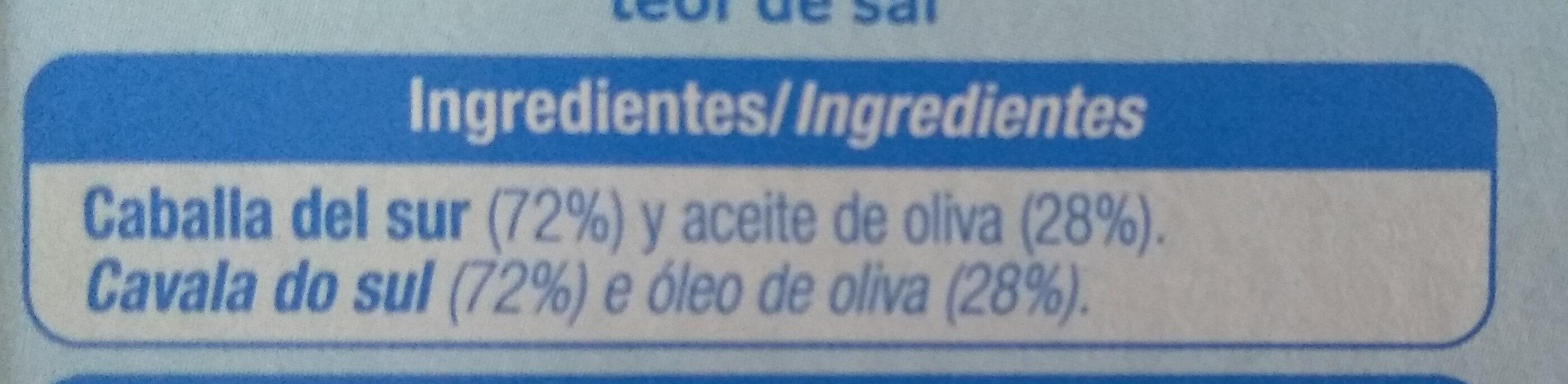 Filetes de caballa del sur - Ingredientes - es