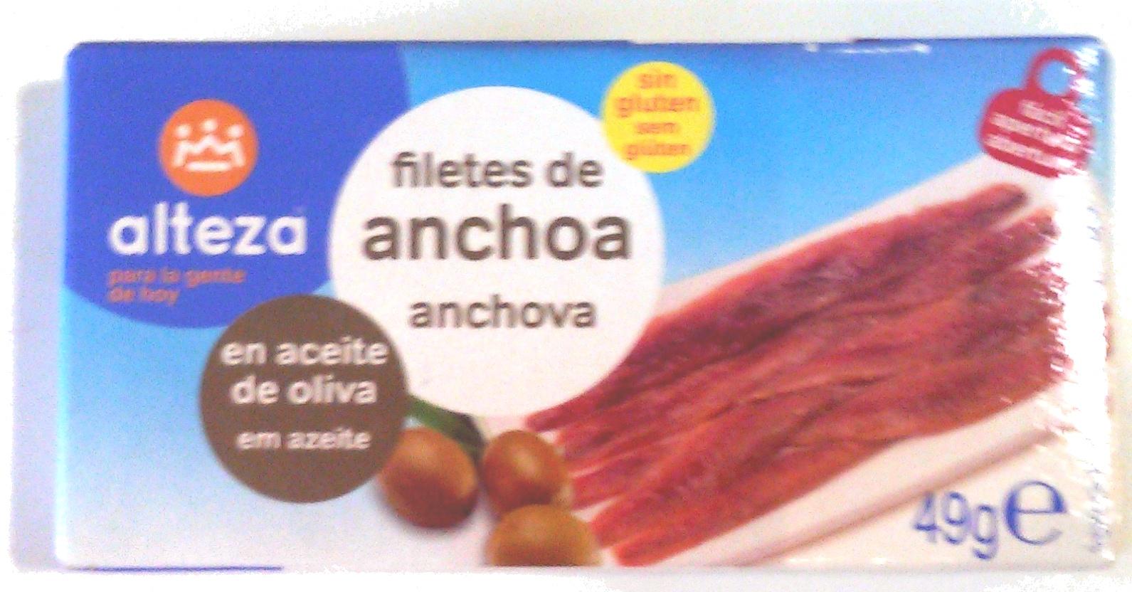 Filetes de anchoa en aceite de oliva - Producto