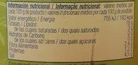 Aceitunas aliñadas partidas - Información nutricional