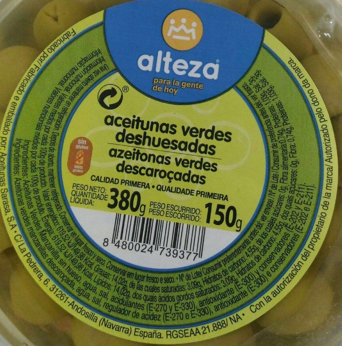 Aceitunas verdes deshuesadas - Informació nutricional - es