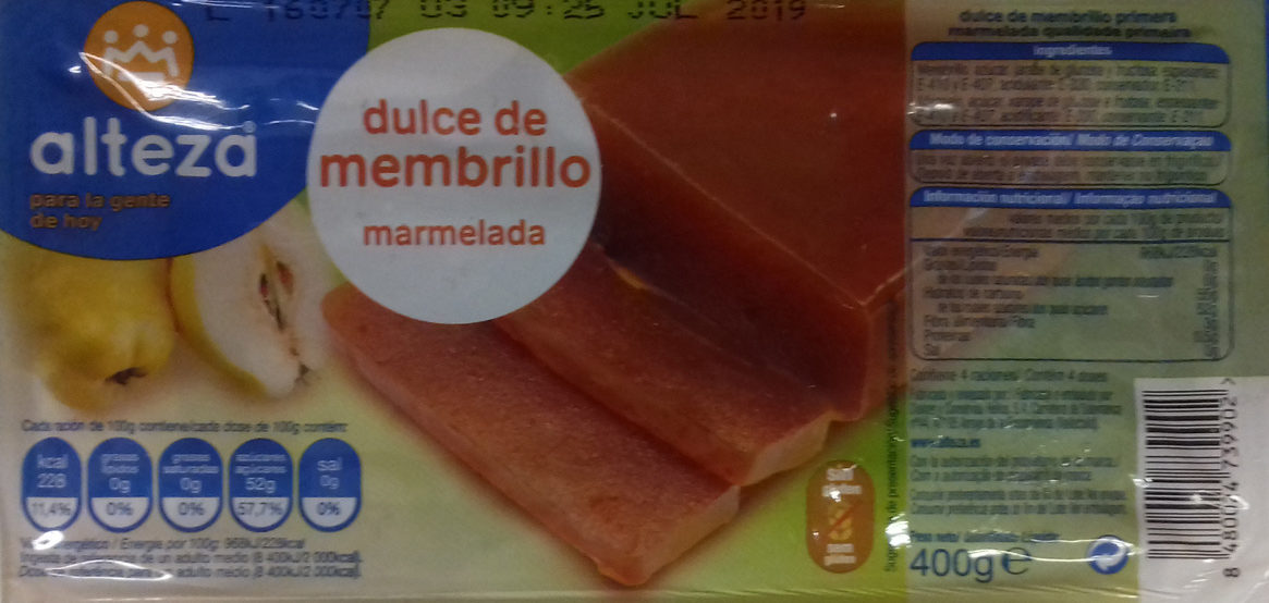 Dulce de membrillo - Product