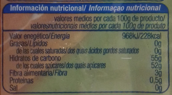 Dulce de membrillo - Nutrition facts - es