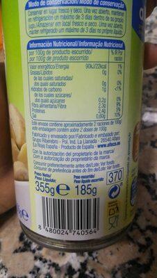 Champiñones laminados - Informations nutritionnelles - es