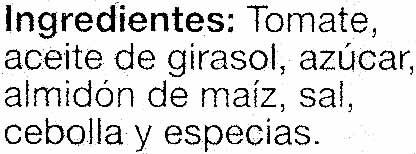 "Tomate frito ""Alteza"" - Ingrédients - es"
