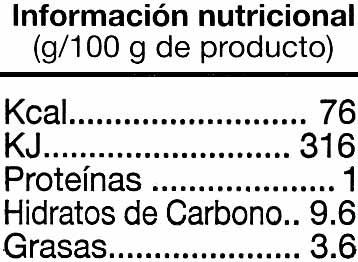 "Tomate frito ""Alteza"" - Informations nutritionnelles - es"