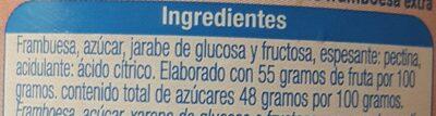 Mermelada de frambuesa - Ingrediënten - es
