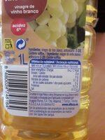 Vinagre de vino blanco - Ingredients - es