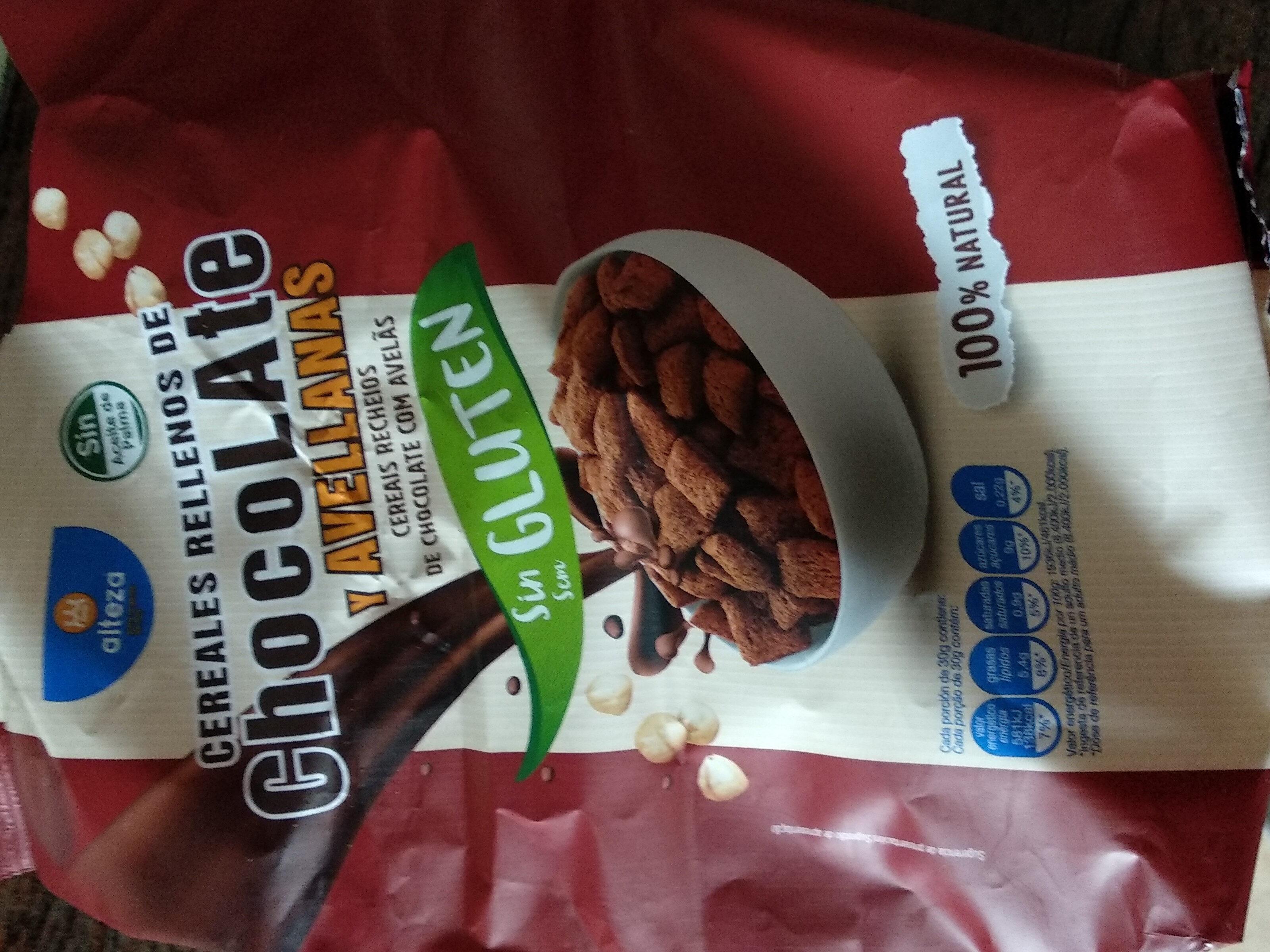 Cereales rellenos de chocolate y avellanas - Producto