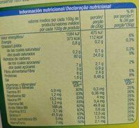 Corn flakes copos de maíz alteza - Informació nutricional