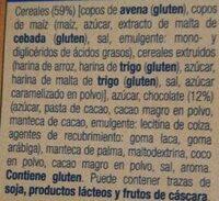 Musi crujiente con chocolate - Ingrediënten - es