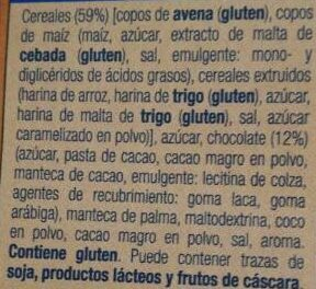 Musi crujiente con chocolate - Ingredients