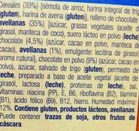 Cereales rellenos de chocolate - Ingrediënten - es