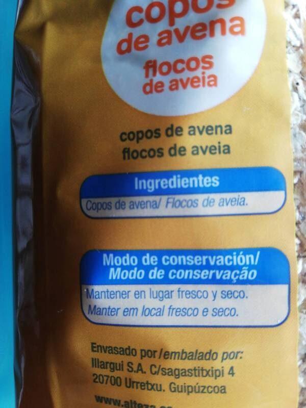 Copos de avena - Ingrediënten - es