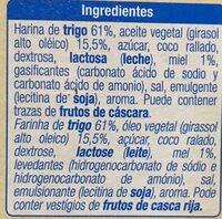 Galleta Relieve - Ingredients