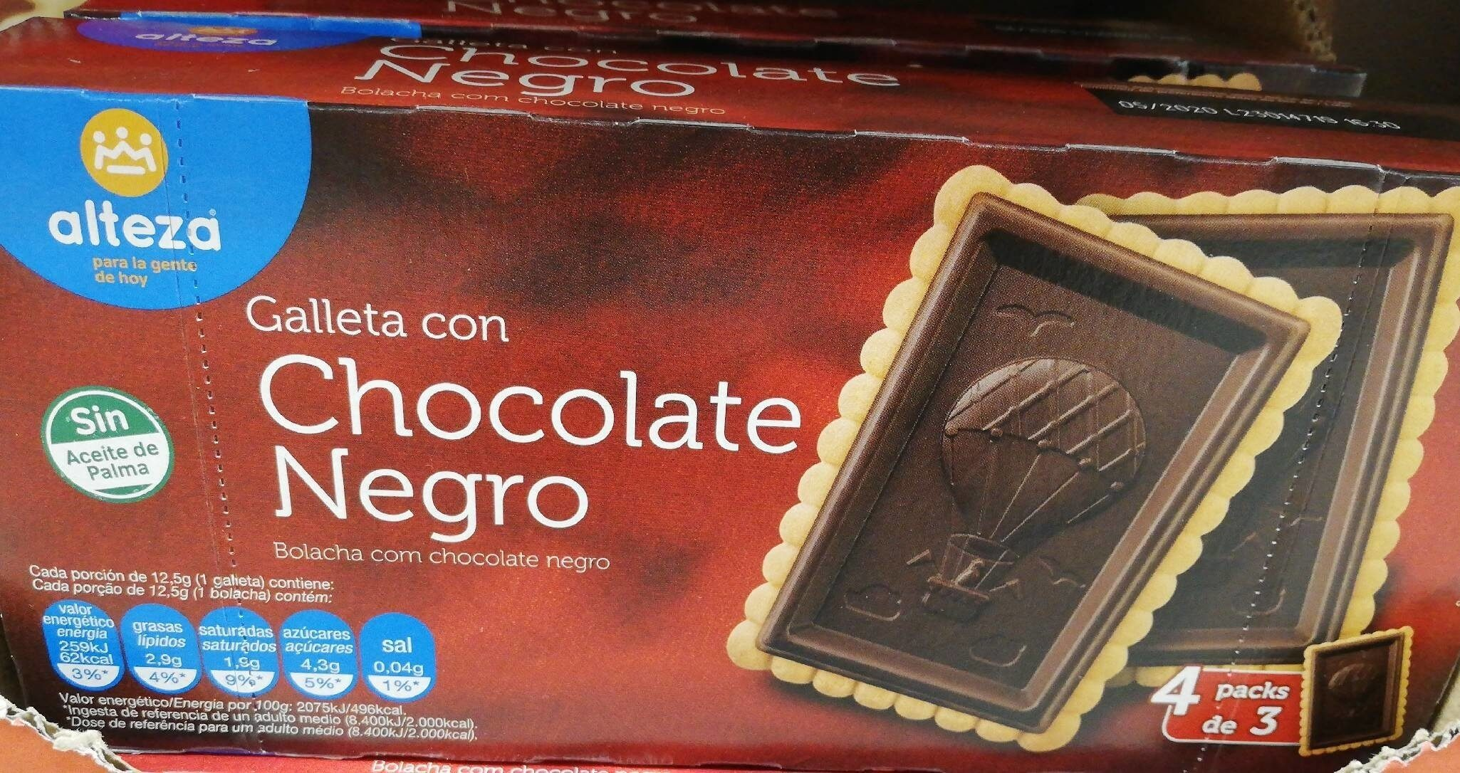 Galleta con Chocolate Negro - Product - es