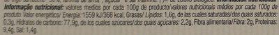 Tostadas de Trigo Sarraceno de Cultivo Ecológico - Información nutricional