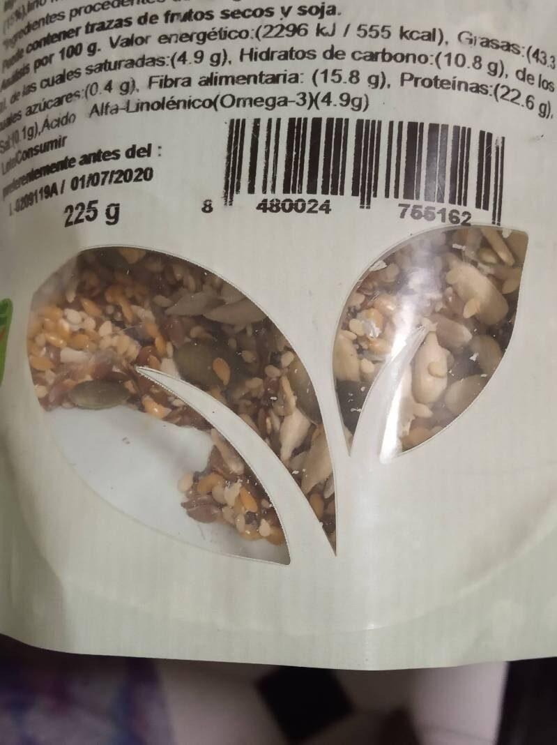 Mezcla 6 semillas ensalada - Información nutricional - es