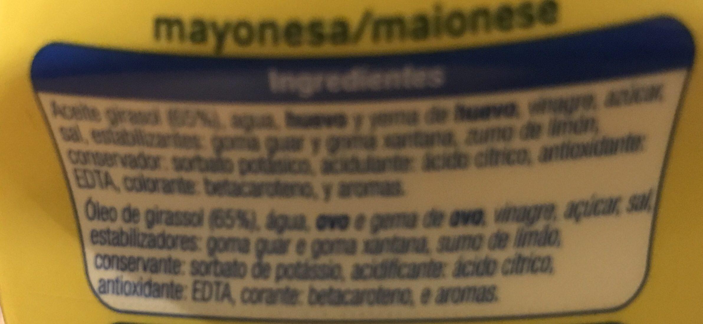 Mayonesa - Ingrédients - fr