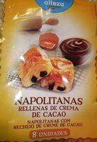 Napolitanas rellenas de cacao - Producto - es