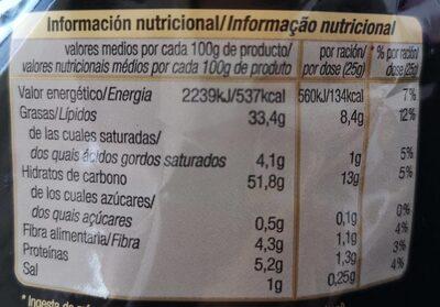 Patatas frutas extracrujientes - Informations nutritionnelles - es