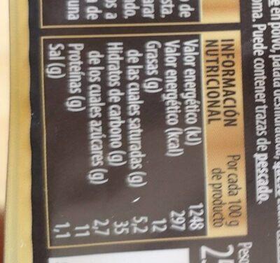 Pasta Fresca - Información nutricional