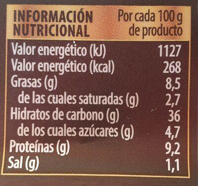 Pasta Fresca Girasoli Tomate y Mozzarella - Informació nutricional - es