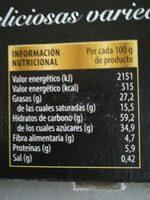 galletas surtidas - Información nutricional