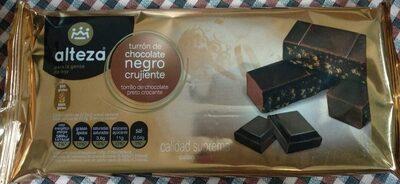 Turrón de chocolate negro crujiente