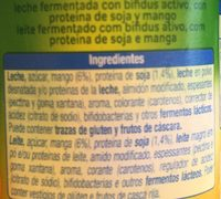Bífidus con trozos mango soja - Ingrédients
