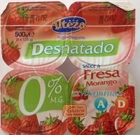 Yogur Desnatado sabor a Fresa con vitaminas A y D - Product