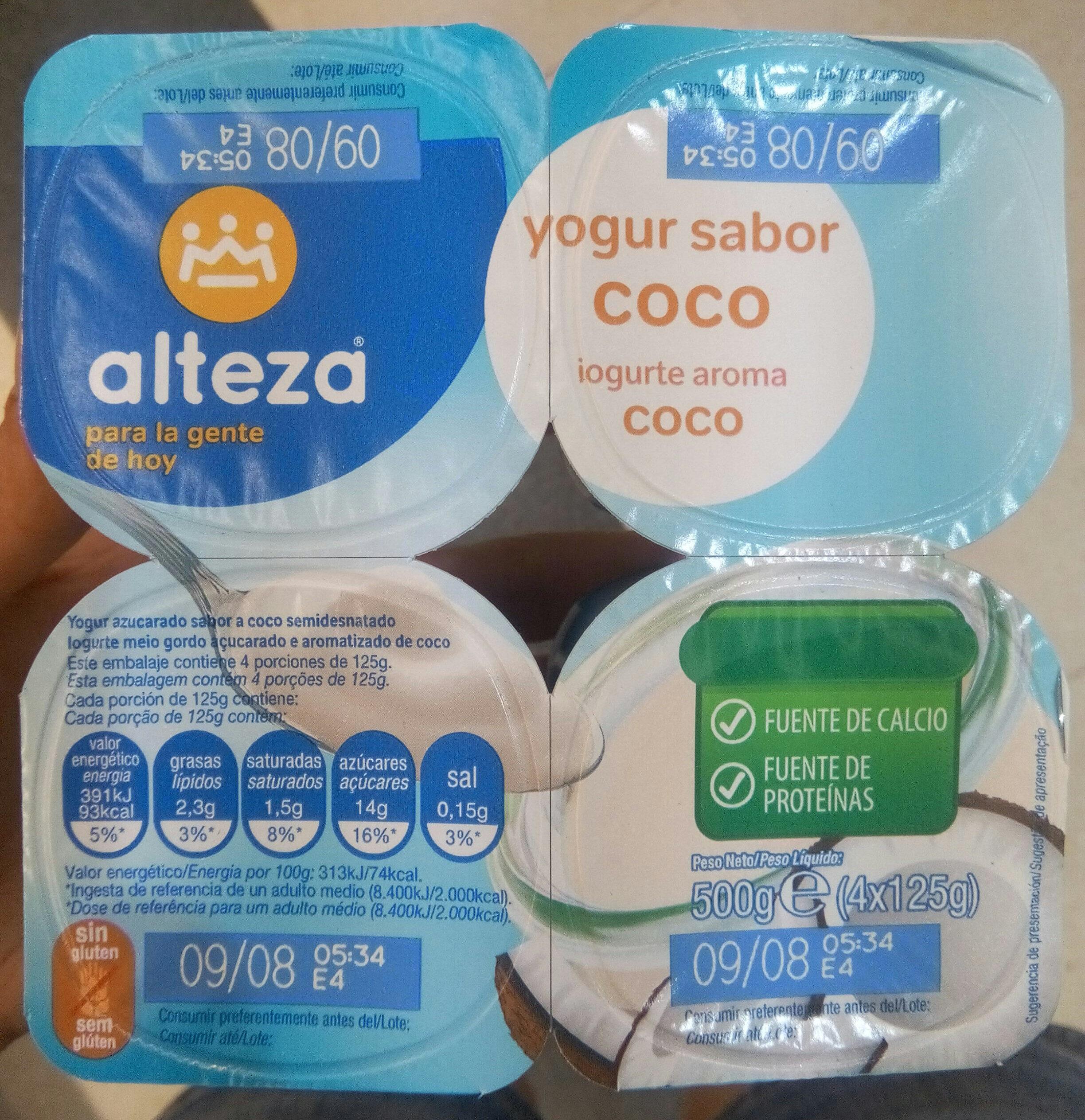 Yogur sabor coco - Producto - es
