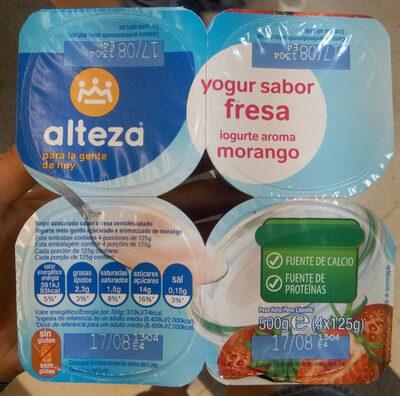 Yogur sabor fresa - Producto - es