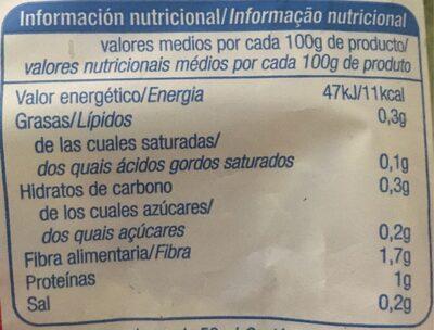 Espinaca troceada - Informations nutritionnelles - es