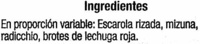 Ensalada Mezclum - Ingrédients