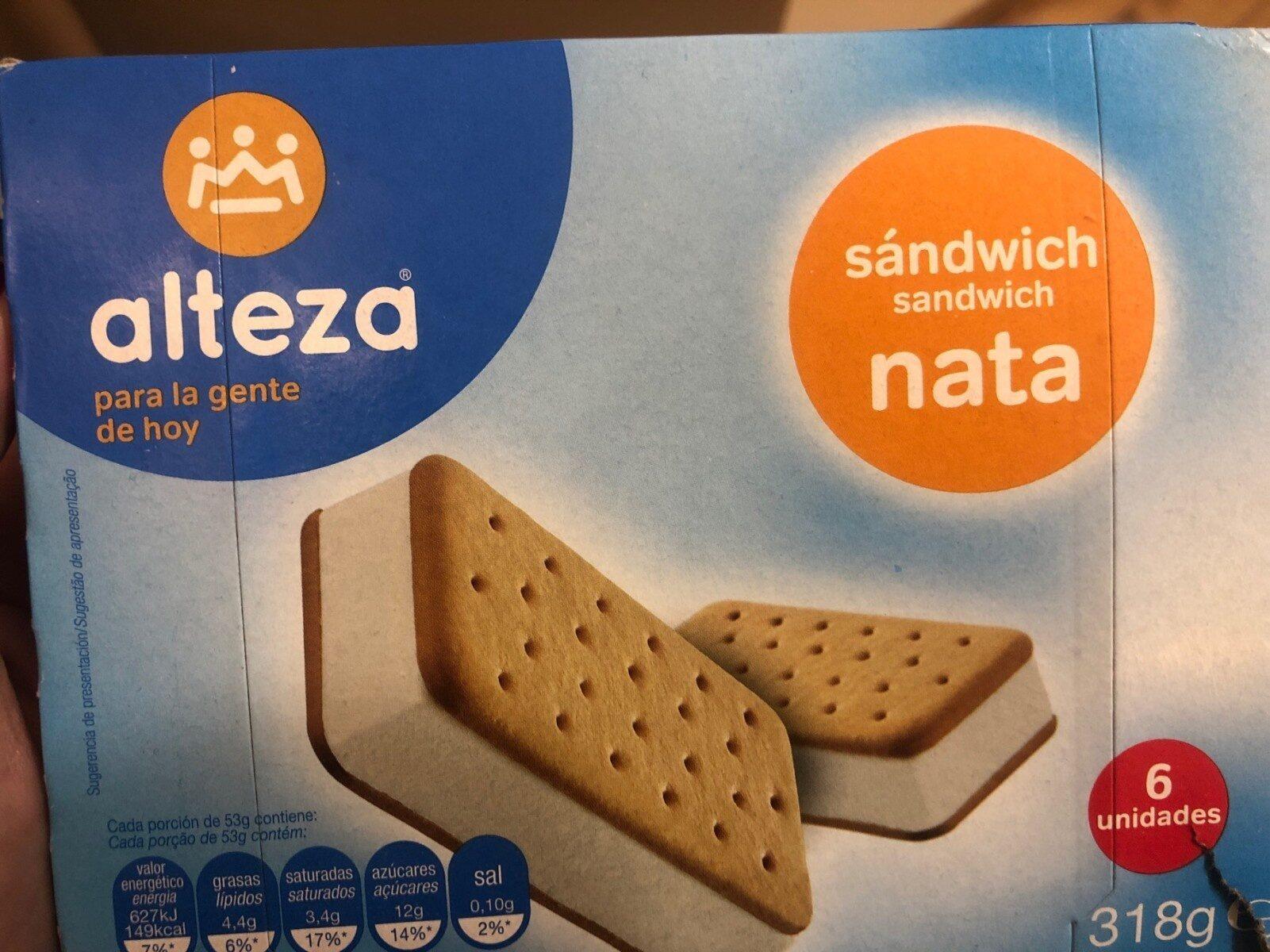 Sandwich de nata - Producte - es