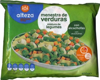 Menestra de verduras congelada alteza 400 g - Menestra de verduras en texturas ...