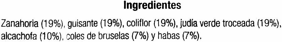 Menestra de Verduras - Ingrediënten - es
