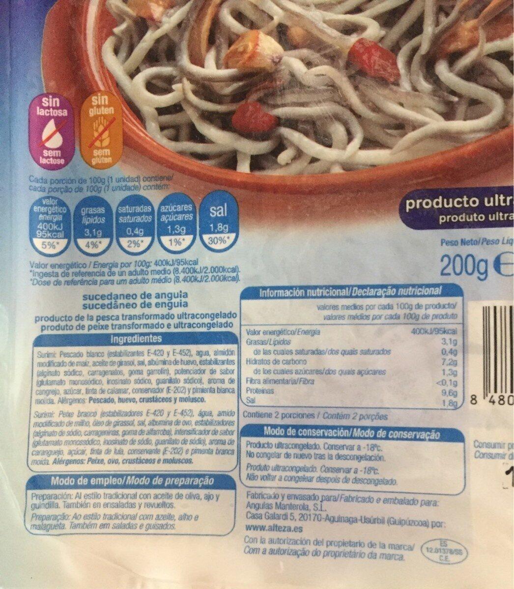 Surimi de aguinaga - Informació nutricional