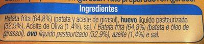 Tortilla de patatas - Ingredientes
