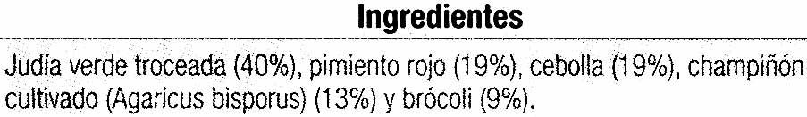 salteado de verduras - Ingredients