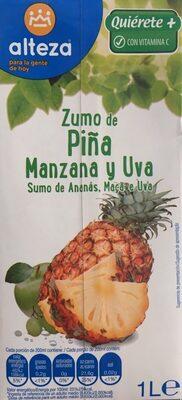 Zumo de piña manzana y uva