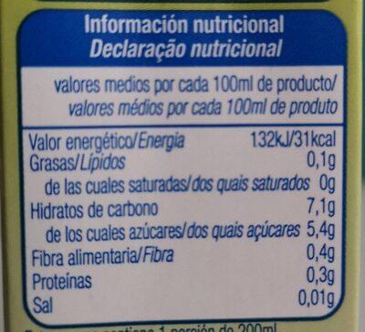 Zumo 5 frutas - Informations nutritionnelles - es