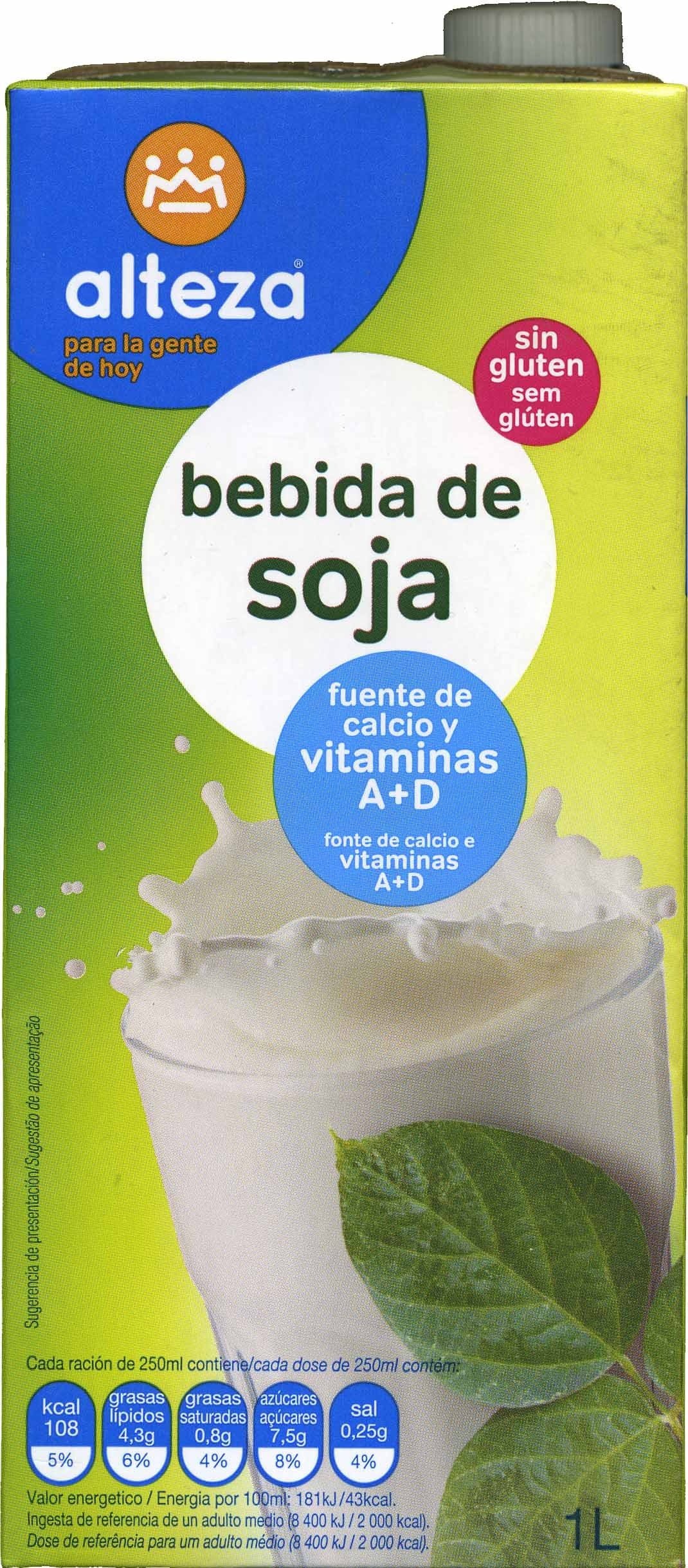Bebida soja - Product - es
