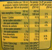Bebida soja - Información nutricional - es