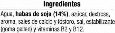 Bebida de soja sabor vainilla - Ingredients - es